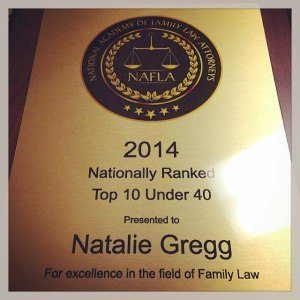 Natalie Gregg award from National Academy of Family Law Attorneys