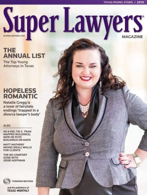 Natalie Gregg on Cover of Texas Super Lawyers